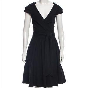 DVF Brass Fit & Flare Wrap Dress